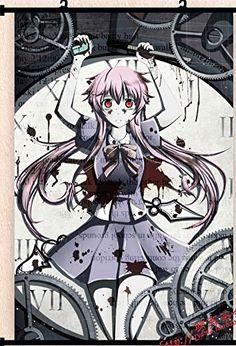 For arianna: Future Diary Gasai Yuno Mirai nikki Poster Wall Scroll Home Decor Cosplay