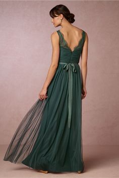 emerald green bridesmaid dress | Fleur Dress from BHLDN