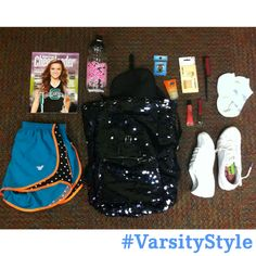 We are ready for this weekend! Got our cheer bag packed and ready to go.   Lay out what's in your cheer bag, snap a pic and share it on Instagram with the hashtag #VarsityStyle