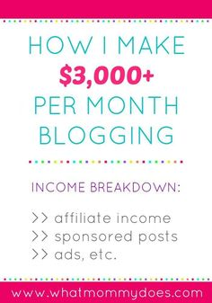 How much money can you make money blogging? Here's the http://WhatMommyDoes.com July 2015 blog Income Report. It's inspiring to know some people earn extra money for their families by blogging and gives you an idea of what is possible. It includes thoughts on the income breakdown - passive vs active earnings and what portion of income comes from affiliate advertising, sponsored posts, and advertising.