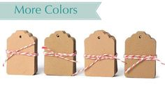 Small blank kraft tags die cuts. Brown paper gift tags gift embellishments (4.35 USD) by TodoPapel