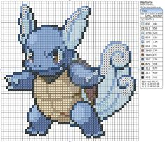 There are a lot of Pokemon that you can cross stitch Cross Stitch Charts, Cross Stitch Designs, Cross Stitch Patterns, Cross Stitching, Cross Stitch Embroidery, Pokemon Cross Stitch, Stitch Character, Crochet Pokemon, Stitch Cartoon