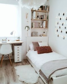 Teen Room Decor - Choose Furniture That Is Cheerful For Your Teen Room Ideas Bedroom, Small Room Bedroom, Home Decor Bedroom, Diy Bedroom, Bedroom Inspo, Bedroom Storage, Girls Bedroom, Bedroom Ideas For Small Rooms, Tiny Bedroom Design