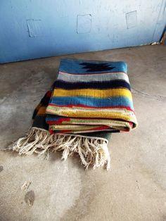 Vintage Kilim Rug 50's/ 60's Large Woven by SouthwestVintage, $395.00