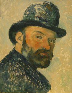 Paul Cézanne, Autoportrait au châpeau melon