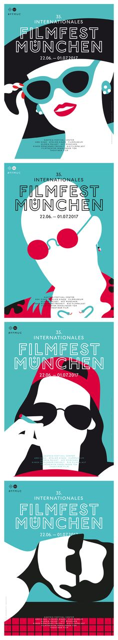#olimpiazagnoli #filmfest #münchen #plakat #poster #sunglasses #ffmuc #munich #graphic #design #blue #black #red #communication #movie #illustration