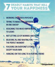 7 Habits that Kill Happiness