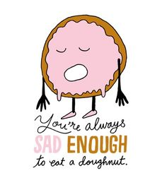 """""""Sad Doughnut,"""" a daily drawing by Chris Piascik that totally makes me say """"aww."""" (See also: shop)"""