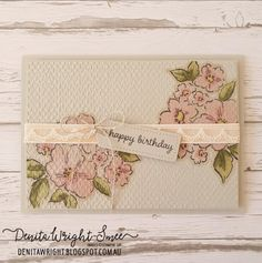 Happy Birthday Tag, Birthday Cards, Embossing Folder, Stampin Up Cards, Card Stock, Decorative Boxes, Shabby Chic, Challenges, Paper Crafts