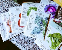 Got my winter crop of seeds in the mail from @BotanicalSeeds. Time to go do some planting!