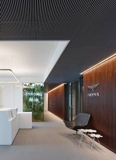 Phoenix Real Estate, Frankfurt am Main, 2014 - Ippolito Fleitz Group - Identity Architects Corporate Office Design, Modern Office Design, Corporate Interiors, Office Interior Design, Office Interiors, Home Interior, Interior Architecture, Office Designs, Office Entrance