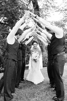 Bride with Groomsmen Bridge