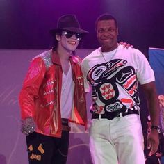 Chris Tucker with Michael Jackson at the 30th Anniversary ...