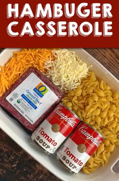 Cheesy Hamburger Casserole (Quick, Easy & Cheap Dinner Recipe For The Family!) Looking for quick and easy dinner recipes for the family? Even your picky eaters will love this simple casserole dish! Easy Cheap Dinner Recipes, Quick Easy Meals, Quick Recipes, Good Easy Dinner Recipes, Easy Dinner Meals, Quick Easy Cheap Meals, Cheap Meals For 4, Easy Dinners For Kids, Simple Meals