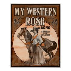 My western rose print from Zazzle.com