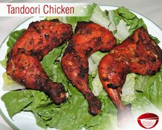 Tandoori Chicken - The Tandoori Chicken is made quite like the traditional one made in a Tandoor. Visit: www.bestdesifood.com