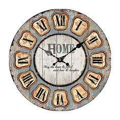 Euro Country Wall Clock - GBP £7.29