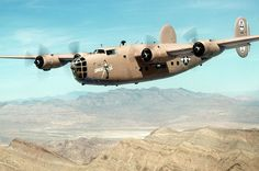 """The original """"Diamond Lil"""" B-24 Liberator.  Uncle Byron flew these out of North Africa during WWII, dropping bombs over Romania."""