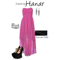 Hanar (Mass Effect) by featuring vintage jewelry In honor of the Mass Effect Extended Cut coming out yesterday, I decided to do a. Nerd Fashion, Diy Fashion, Fashion Outfits, Girly Outfits, Cute Outfits, Pink High Low Dress, Character Inspired Outfits, Casual Cosplay, Mass Effect