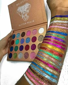 pinterest | talithadownie Makeup Dupes, Eye Makeup, Makeup Swatches, Kiss Makeup, Makeup Brushes, Makeup Cosmetics, Beauty Makeup, Make Up Looks, Glitter Eyeshadow Palette