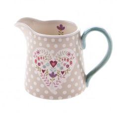 Gisela Graham Heartfelt Floral Milk/Cream Jug
