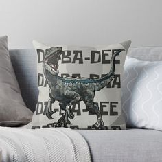 """""""Blue, The Raptor!"""" Throw Pillow by xmeiishii 