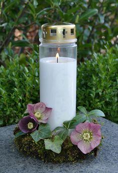 4 St/ück In Gedenken private grief Tischdekoration Trauer Tischkerzen mit Personalisierung