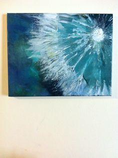 ORIGINAL+Nature+Abstract+Painting+'Dandelion'+by+CoconPapillion,+$180.00