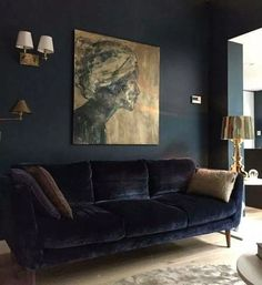 4 Reasons to Go Bold: Dark Paint Color Ideas - Dahlias and Dimes Are you brave enough or even like the idea of dark walls somewhere in your home 🏡 Living Room Designs, Living Room Decor, Living Rooms, Living Area, Dark Paint Colors, Interior Design Pictures, Interior Ideas, Interior Inspiration, Style Inspiration