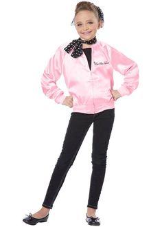Grease The Pink Satin Ladies Child Halloween Costume Kids 50s Costume, Kids Costumes Girls, Toddler Halloween Costumes, Boy Costumes, Costumes For Women, Costume Ideas, 1950s Costumes, Wolf Costume, Diy Halloween