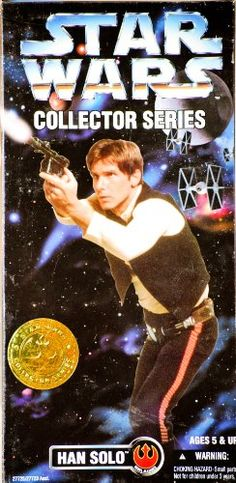 """Pretty much my favorite childhood toy: Star Wars 12"""" Collector Series Han Solo Kenner. All my Barbies liked nice men."""