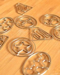 9pcs Pack Shaped paper clips bookmark  Avengers by MagicalElement