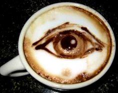 .·:*¨¨*:·.Coffee ♥ Art.·:*¨¨*:·. Eye latte art