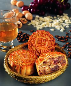 Mooncake (simplified Chinese: 月饼; traditional Chinese: 月餅; pinyin: yuè bĭng) is a Chinese bakery product traditionally eaten during the Mid-Autumn Festival.