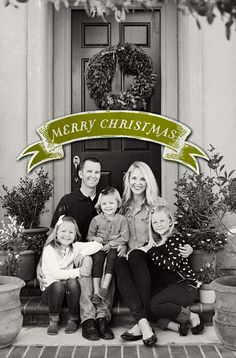 from McGee Life - LOVE this Christmas Card! So simple, elegant, B/W, etc.