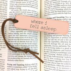 Custom Copper Bookmark  Metal Book Mark Hand by BlockandHammer