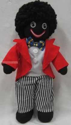32cm Golliwog Gollies Golly With Embroidered Face,Red Jacket,White Shirt & Pants