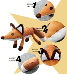 Free Shipping !!! 16inch/24inch Movie Le Petit Prince The Little Prince Fox Plush Doll Stuffed Toys education toy for baby