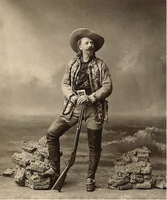 Buffalo Bill in Paris 1890 Print -True West: Western Cowboy Holsters and Old West Collectibles