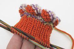 Socken stricken * Sockenkurs #4 * Bündchen mit Schwuppdiloop