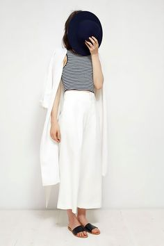 Black and white striped top with white pants. Favorite summer outfit, casual outfit, minimal outfit, simple outfit, comfy outfit, summer vacation outfit, summer travel outfit, street style