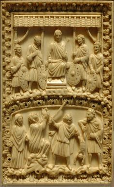 The Judgement of Salomon, codex binding. Ivory, end of the 10th century–11th century.