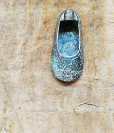 Vintage Brass Shoe.  Hippie. Bohemian.  Indian. Boho. Brass