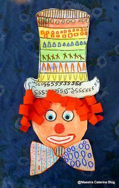 Dettato di pregrafismo: in ogni riga un segno! 1) righe verticali 2) cerchi 3) quadrati 4) triangoli ............... ....... Clown Crafts, Carnival Crafts, Art Lesson Plans, Art Lessons, Diy And Crafts, Kindergarten, Christmas Cards, Preschool, Shapes