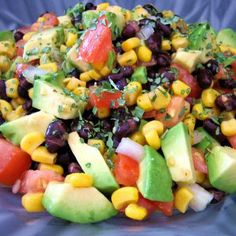 Black Bean Salad~ it's also great as an appetizer at a party to dip chips into!