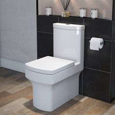 Vermont Close Coupled Toilet inc Soft Close Seat - Victoria Plumb Close Coupled Toilets, Wall Hung Toilet, Glazed Ceramic, Vermont, Plumbing, Basin, New Homes, Cellar, Bathroom Ideas