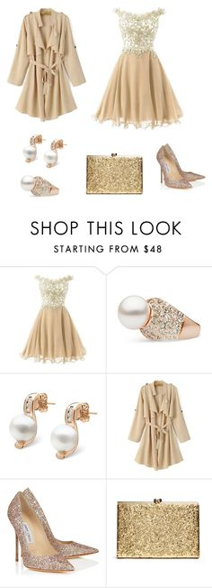 """Untitled #549"" by adancetovic on Polyvore featuring Jimmy Choo, pearljewelry and pearlparadise"