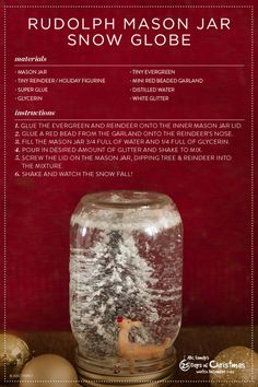 We love this festive DIY reindeer snow globe. It's the perfect addition for your 25 Days of Christmas viewing party! Don't missABC Family's 25 Days of Christmas December 1-25.