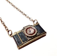 Crystal Camera Long Necklace by MidnightHouseElves on Etsy