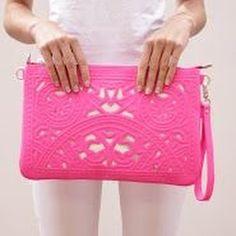 Laser cut clutch #purse #pink